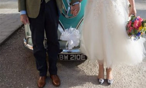 perfect vintage VW wedding